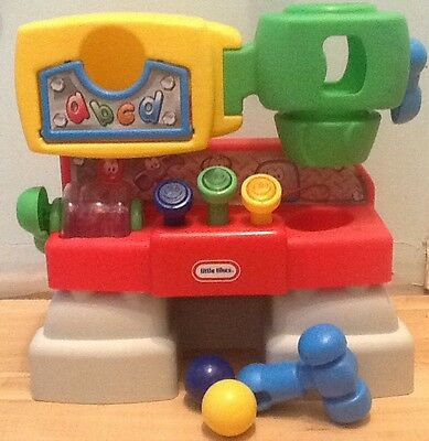Little Tikes Discover Sounds and Lights Workshop Bench, Hammer, 2 Two Balls