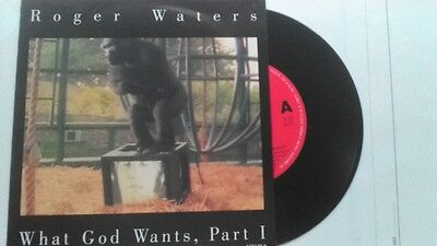"""7"""" Roger Waters """" What God Wants,part 1 """"  Pink Floyd Made In Holland"""