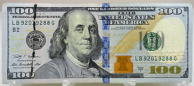 ERROR NOTE - raised line of clumped serial number ink  - series 2009A $100