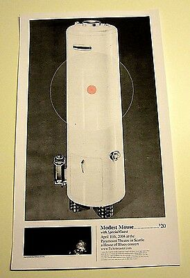 Modest Mouse 2004 Paramount Theatre Seattle House of Blues Concert Art Poster