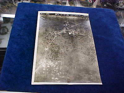 Orig WW1 R/P British Western Front Aerial View April 30th 1917 Acherville