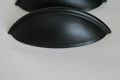 Lot of 4 Black Matte Cabinet Drawer Handle Pull