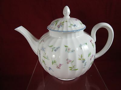 Vintage Royal Worcester 'Forget Me Not' small teapot