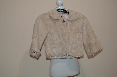 NEW LOOK Girls fur short coat jacket great for Christmas party season size 9 yrs
