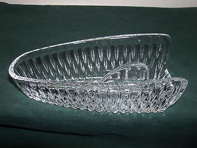Vintage 1930's 40's L E Smith Heritage Clear Glass Knife Holder EUC