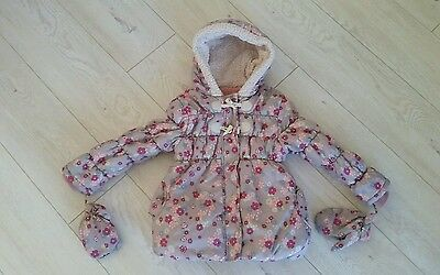 George Warm Baby Girls Jacket  Age 5-6 Years Fab!