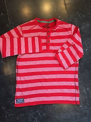 TU Boys Red Striped Long Sleeved Top - Age: 10 Years
