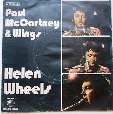 Wings Paul Mccartney ''helen Wheels'' Del Año 1972  Single De 2 Canciones