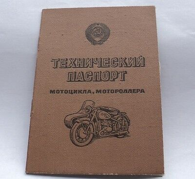 Certificate data sheet technical for motorcycle IZH Planeta Sport specification