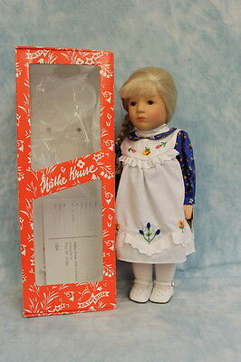 "14"" Kathe Kruse Doll in Box hair has bangs is braided & pulled to one side"