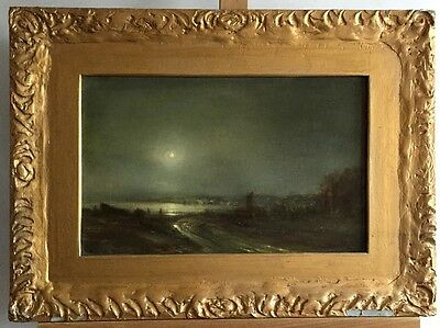 JAMES PATRICK Moonglow, signed oil painting on wood in frame
