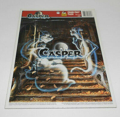 Vintage Casper the Friendly Ghost Frame Tray Puzzle Golden 1995 12 Pieces