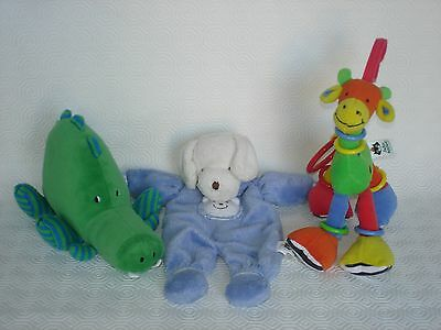 *JELLYCAT* PJ Puppy Soother, Hoopy Loopy Giraffe and Green Dinosaur.