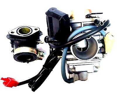 New 24Mm Carburetor Intake Manifold Kit For Gy6 150Cc Scooter Moped Roketa Carb
