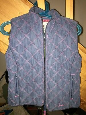 Joules Blue Padded Gilet. Age 5 Years