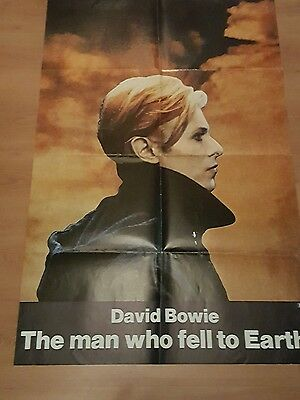 David Bowie rare & original The Man Who Fell To Earth 1976 movie poster