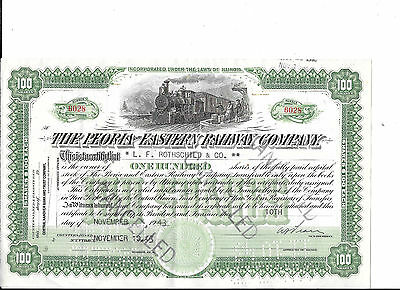 Peoria And Eastern Railway--1943--Stock Certificate
