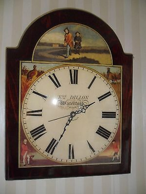 Grandfather  Wall Clock With Period Golfing Scenes
