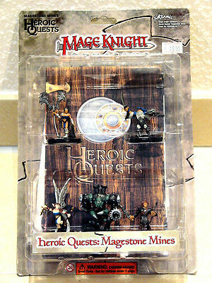 Wzk0305 Mage Knight - 3D Dungeons - Heroic Quests - Magestone Mines!! Neu & Ovp!