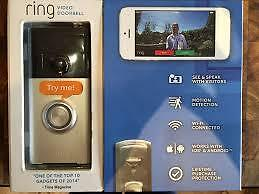 Ring Wi-Fi Enabled Video Doorbell Satin Chrome by ring BRAND NEW AND BOXED