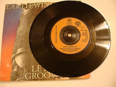 "earth wind & fire - let,s groove 7"" vinyl"