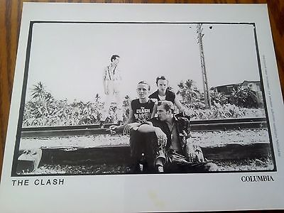 Very Rare Promo Photo of The Clash Band on Location Punk