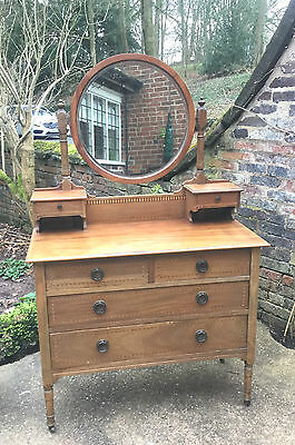 Antique Chest Of Drawers  Vanity Dressing Table Chiffonier