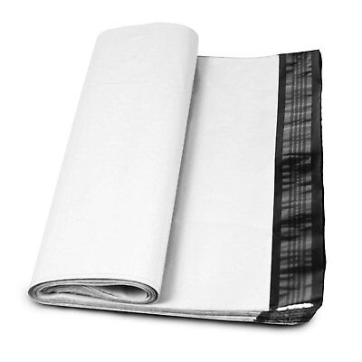 100 4x6 Poly Mailer Shipping Mailing Envelopes Bags Polymailer 2.5 Mil White