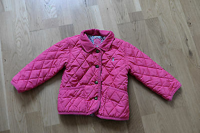 Joules Girls Pink Quilted Jacket  Size 2-3 Years
