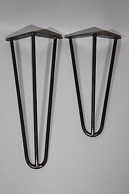 Hairpin Legs Set of 4,Retro,Table,Coffee Table Desk,Bench legs, 31,41cm, unfinis