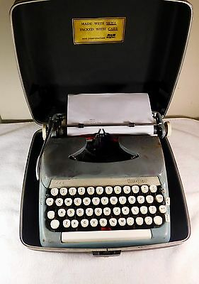 Vintage Smith Corona Sterling Manual Portable Typewriter With Case