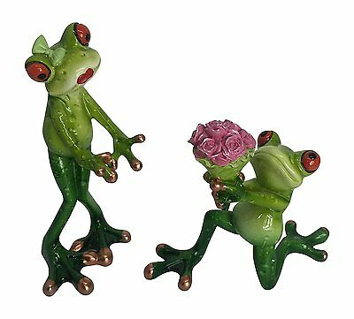 Novelty Frog Figurine - Proposing Frog Couple Set of 2