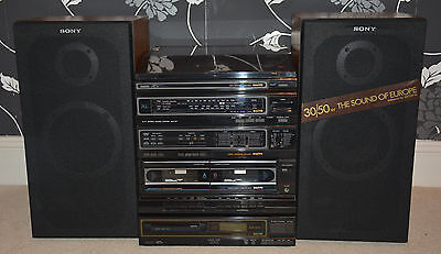 SANYO Hi Fi Stereo Sound System DCX W7 With Sony speakers E34