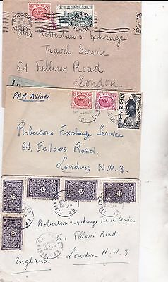 3 x TUNISIA early 1950 covers - some stamps issued years earlier. Nice postmarks