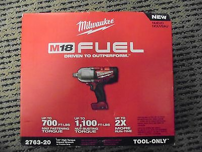"Milwaukee M18 1/2"" Hi Torque Impact Wrench w/ Friction Ring (tool only) 2763-20"