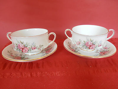 "Royal Standard ""rambling Rose""set For 2"