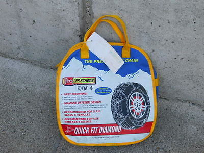 Les Schwab 1550-S Quick Fit Snow Tire Chains  Un-used Winter Traction