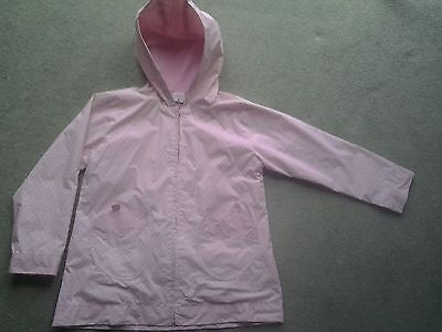 Used girls pink spotty raincoat size 8a 128  from gliss