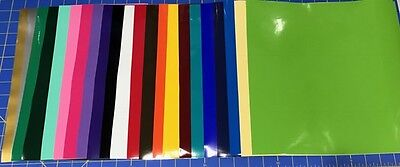 "12 12""x12"" Sheets Oracal 651 Craft Adhesive Vinyl For Cricut Choose or Mix Color"