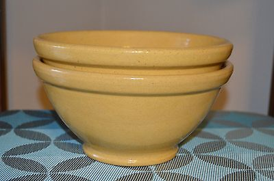 Pacific Pottery Banded and Footed Bowl Mustard Yellow Speckled Vintage