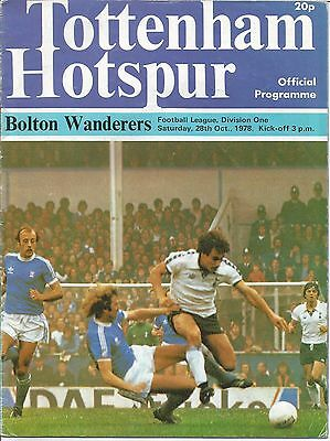 Tottenham Hotspur Bolton Wanderers 1978 Signed Gerry Armstrong Northern Ireland