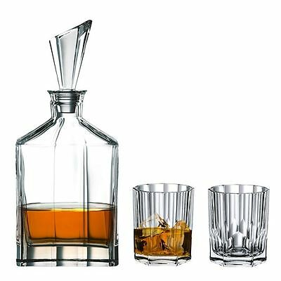 Nachtmann Crystal - Aspen 3pce Whisky Decanter & Double Old Fashioned set (Made