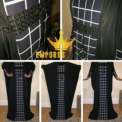 Black Patterned Abaya