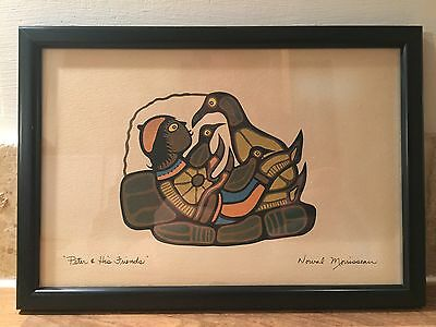 Canadian Norval Morrisseau  'Peter & His Friends' Signed Print Serigraph