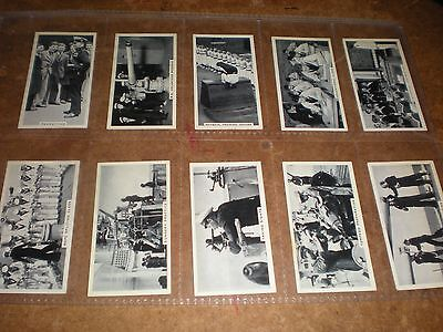 1938 ardath  life in the services (adhesive)  cigarette cards set of 50