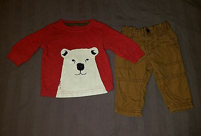 VGUC Carters Baby Boy Clothes 3 Months Two Piece Polar Bear Shirt Pants Outfit