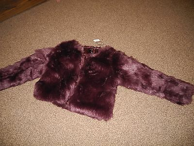 Next Girls Faux Fur Winter Coat Size 10 Years