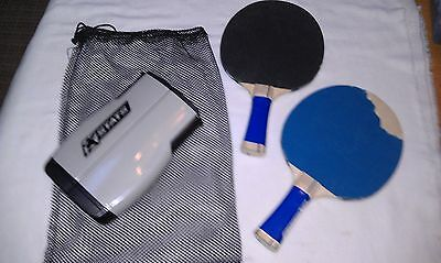 Stats Retractable Table Tennis Ping Pong Net & Stats 2 Paddles
