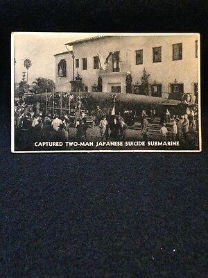 Captured Two-Man Japanese Suicide Submarine Real Photo Postcard
