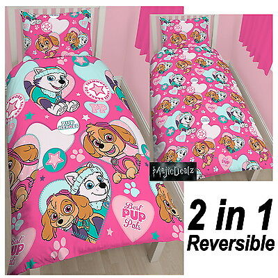 Paw Patrol Pals Single Duvet Cover Skye Everest New Reversible Polycotton